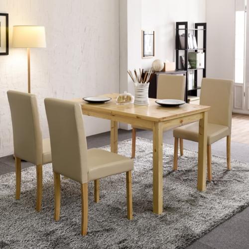 톰 원목 4인용 식탁세트 원목테이블 디자인가구 소나무테이블